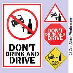 做, 不, 喝酒和開車