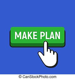 做, button., 手, 游標, 計劃, 滑鼠點擊