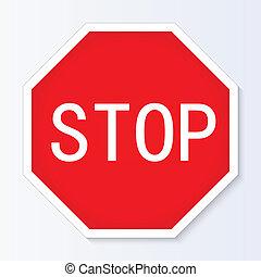 停止簽署, 矢量, 插圖