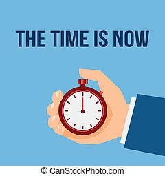 停止, 管理, 观看, 时间, 海报