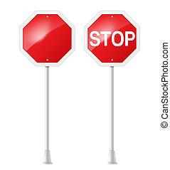 停止  路標, 由于, 支持