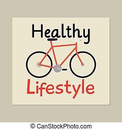 健康なライフスタイル, 自転車, カード