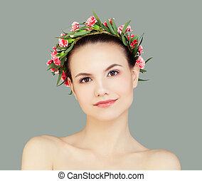 健康な女性, 若い, 味方, 皮膚