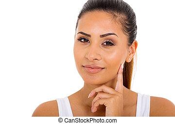 健康な女性, 若い, 皮膚