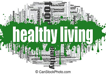 健康な生活, 単語, 雲