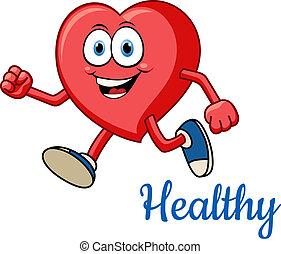 健康な 中心, 動くこと, 特徴, 赤