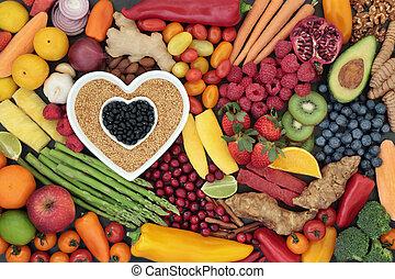 健康な 中心, 極度, 食物