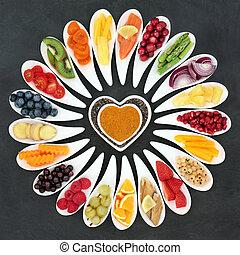 健康な 中心, 食物