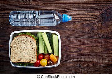 健康に良い昼食, 箱