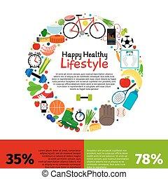 健康に良い食物, ライフスタイル, infographics