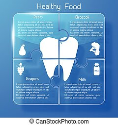健康に良い食物, infographic, テンプレート