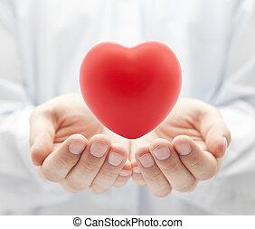 健康保險, 或者, 愛, 概念
