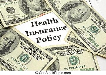 健康保險, 政策, 費用, 現金