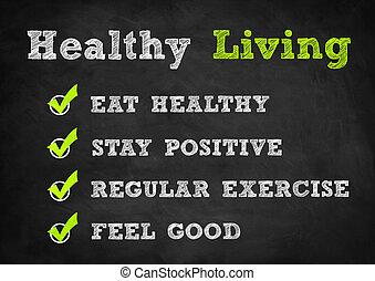 健康活著, 概念