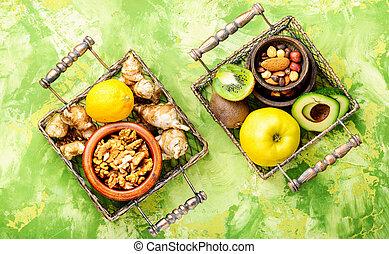 健康的食物, 作品
