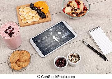 健康的食物, 作品, 由于, 片劑