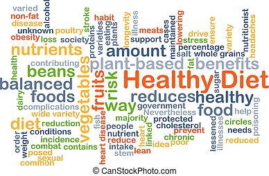 健康的飲食, 背景, 概念