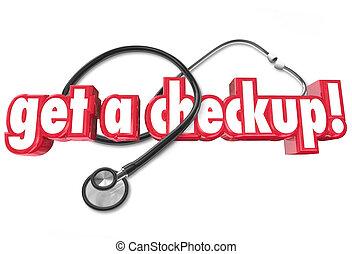 健康診断, 任命, 得なさい, 医者, 健康, 評価, 健康診断
