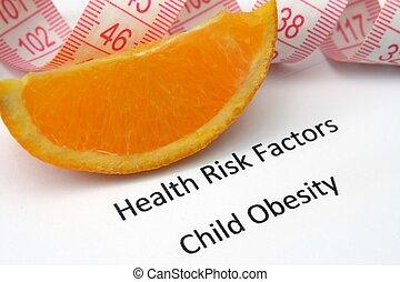 健康風險, -, 孩子, 肥胖症