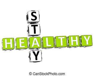 健康, クロスワードパズル, 3d, 滞在