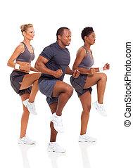 健康, グループ運動, 人々