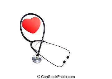 健康, ライト, 心, うそ, 聴診器, バックグラウンド。