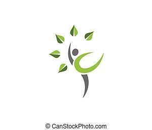 健康, ロゴ, 生活