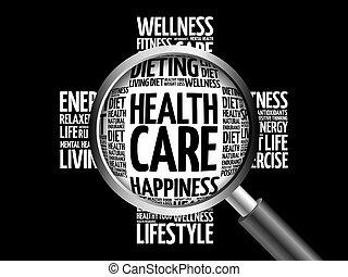 健康, 単語, 雲, 心配