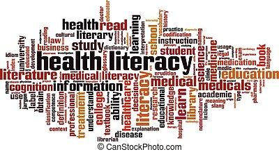 健康, 単語, 雲, 読み書き能力