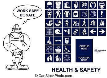 健康, 安全, サイン