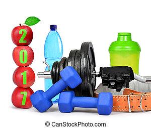 健康, 新しい, 2017, resolutions, 年