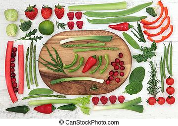 健康, 新たに, 極度, 食物