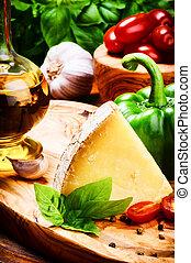 健康, 新鮮, 意大利烹飪, 成分