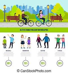 健康, 概念, 家族, infographic