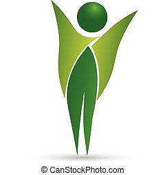 健康, 生活, ロゴ, ベクトル