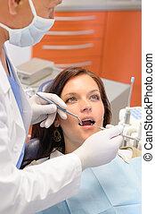 健康, 病人, 在, 牙科醫生辦公室