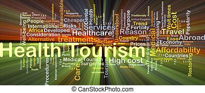 健康, 白熱, 概念, 観光事業, 背景