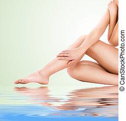 健康, 美しい女性, 足