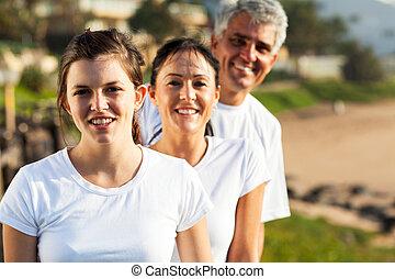 健康, 肖像画, 浜, 家族