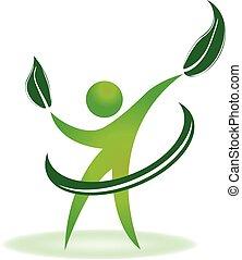 健康, 自然, ロゴ