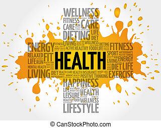 健康, 詞, 雲