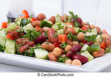 健康, 豆, サラダ