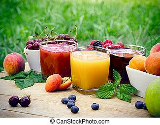 健康,  (beverage),  -, ジュース, フルーツ, 飲み物