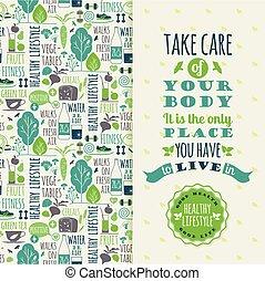 健康, lifestyle., イラスト, ベクトル
