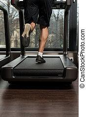 健身, 人跑, 上, 單調的工作
