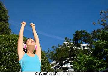 健身, 以及, 運動, 成功, 婦女