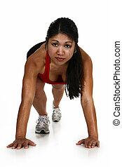 健身, 有吸引力, 菲律賓人, 婦女
