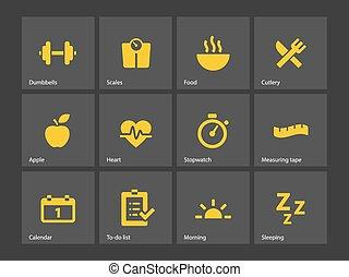 健身, icons.