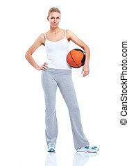 健身, woman.