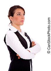 側視圖, ......的, 從事工商業的女性, 向上看